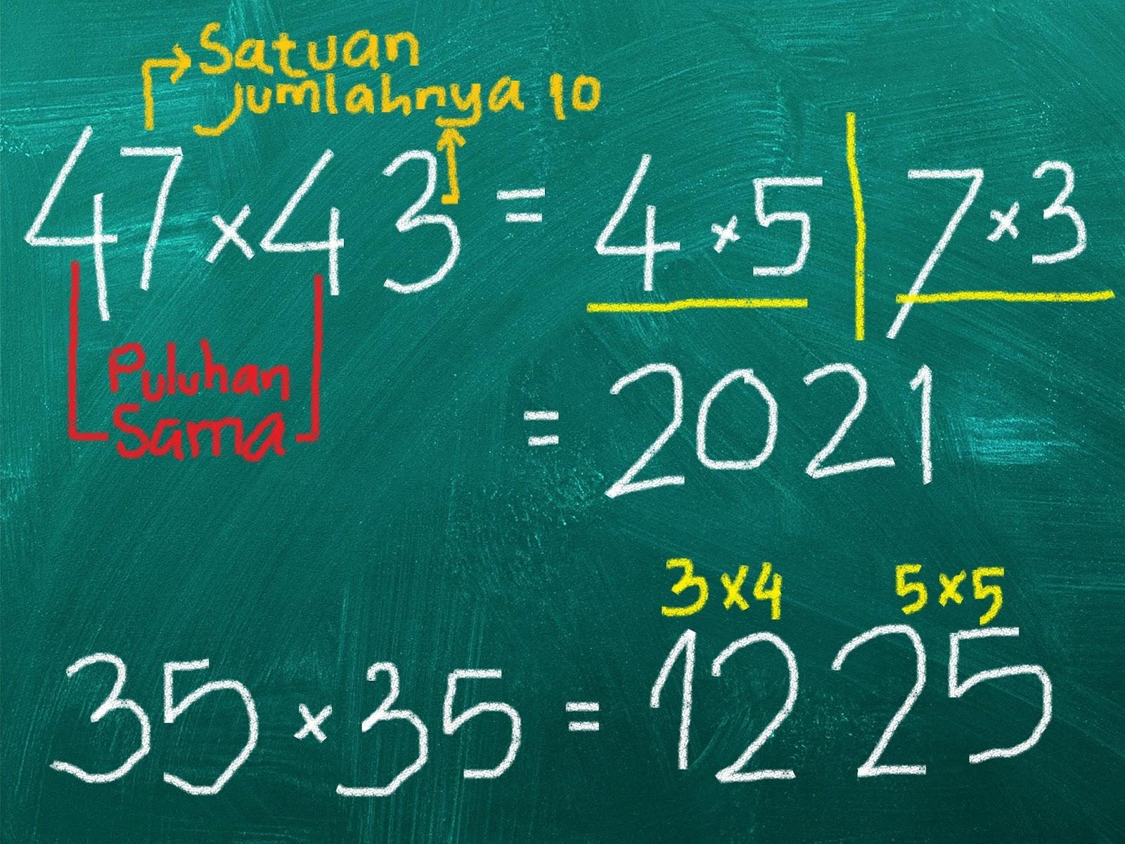 Matematika Kreatif, Perkalian Bilngan Dua Digit Jadi Mudah