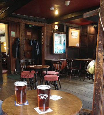 The interior of the White Bear pub, Devizes