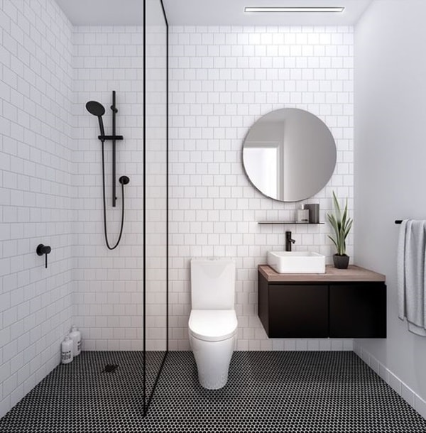 Solutions To Decorate Small Bathrooms 9