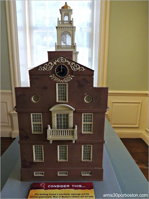 Maqueta del Old State House de Boston