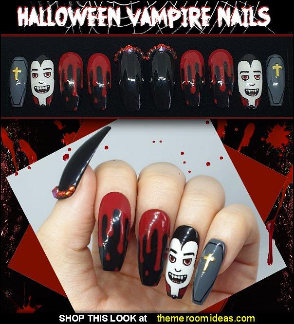 Halloween Vampire Set halloween nails gothic halloween dracula nail designs
