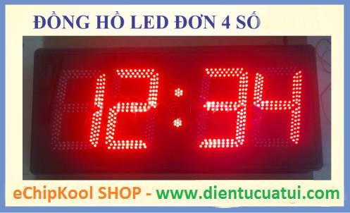 Đồng hồ điện tử Led treo tường 4 số giá rẻ