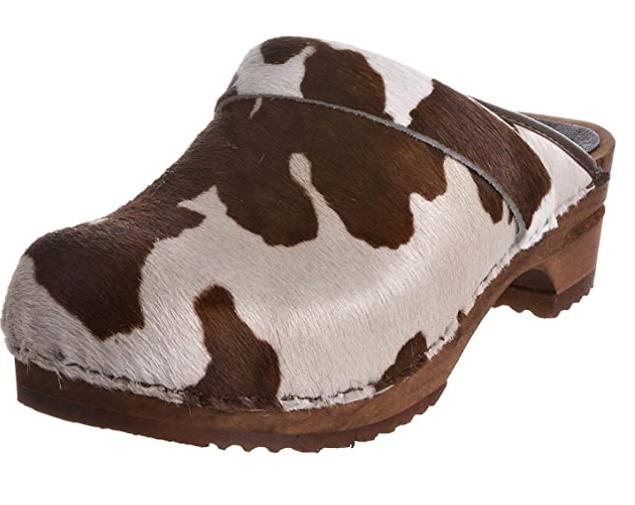 zuecos - estampado - vaca - marrón - vacaslecheras.net