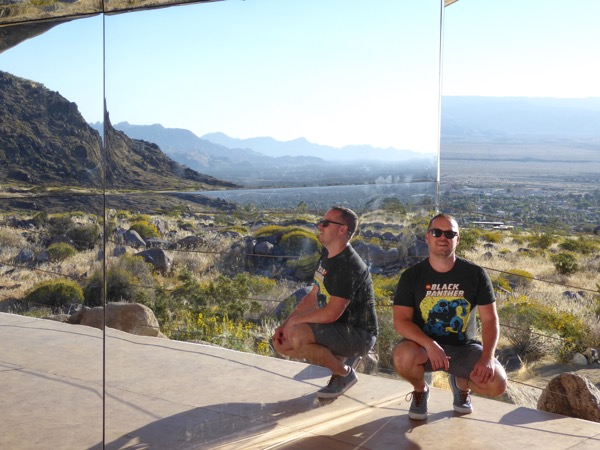 Inside Mirage mirror house Palm Springs