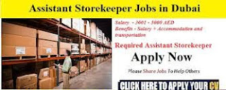 Store Keeper For Transportation Industry in Abu Dhabi, UAE