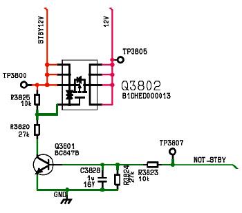 Hình 45 - Đèn Q3802 điều khiển điện áp 12V