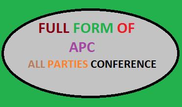 full form of apc