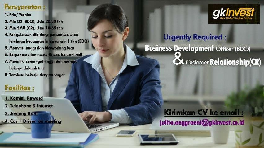 Lowongan Kerja PT. Global Kapital Investama Berjangka (GK Invest) Bandung Maret 2020