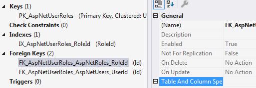 asp.net core on delete no action