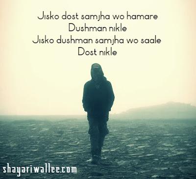 Bewafa dost shayari in hindi