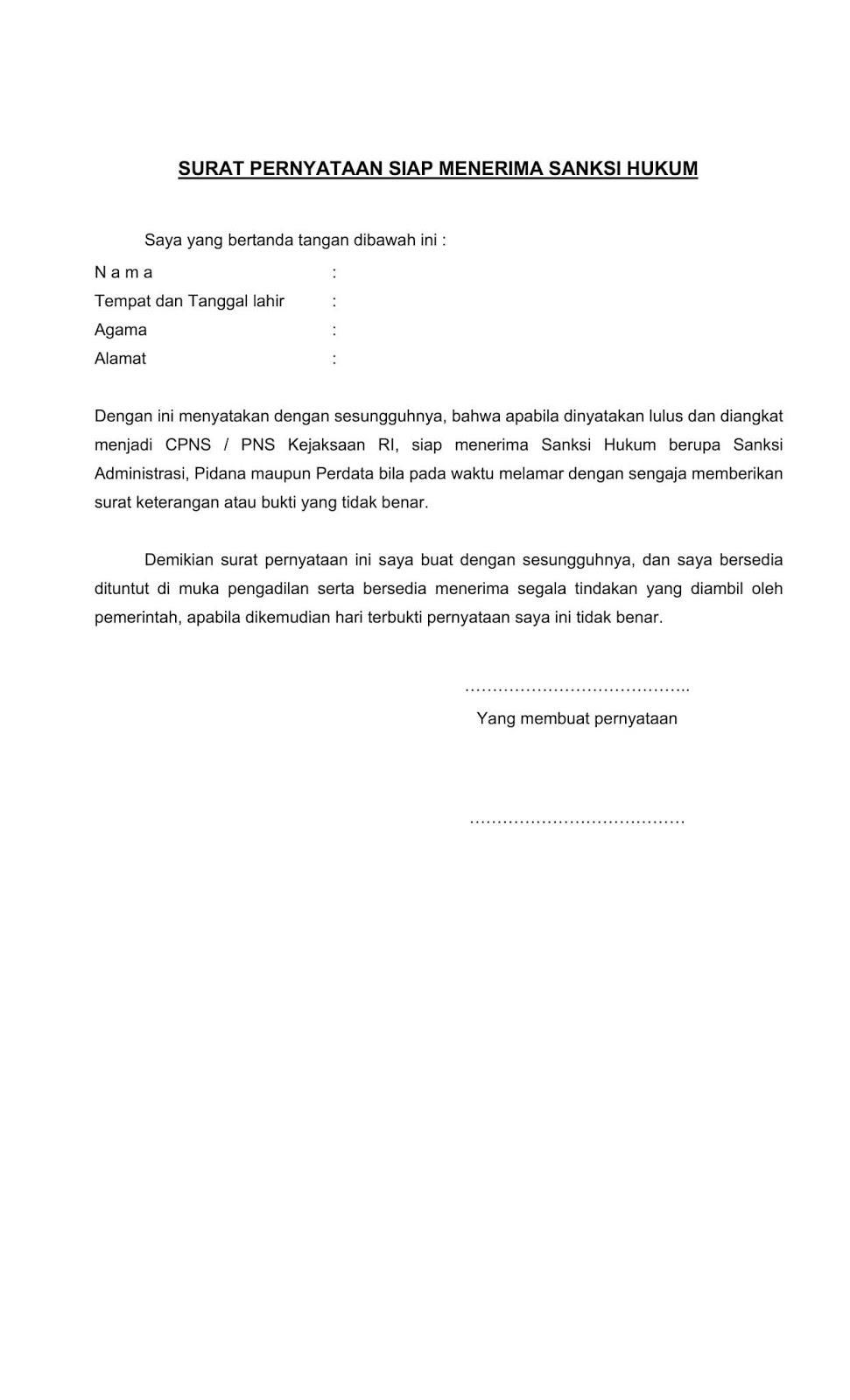 Kumpulan contoh soal psikotes dan kunci jawabannya dilengkapi penjelasannya. Contoh Terbaru Format Surat Pernyataan Cpns Kejaksaan Agung Tahun 2019 Semua Formasi Jabatan Rekrutmen Lowongan Kerja Cpns Bumn Bulan Oktober 2021