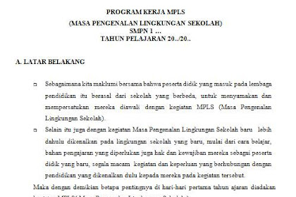 Program Kerja MPLS SMP Doc