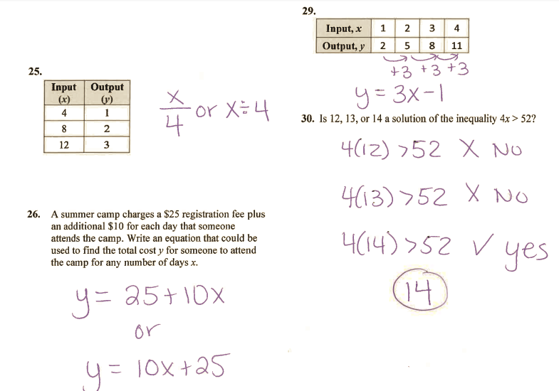 Grade 6 Math with Ms. Eringis : ANSWER KEY REVIEW SHEET ...