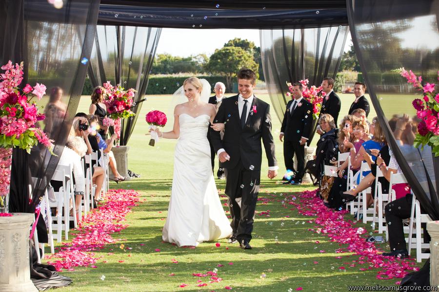 Pink, Black and White Wedding - La Fete Weddings