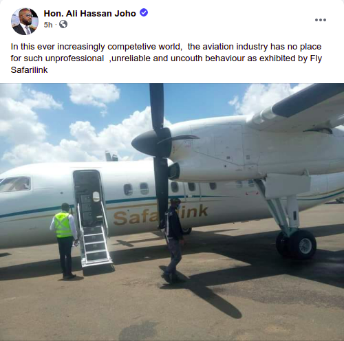 Governor Hassan Joho to Safarilink