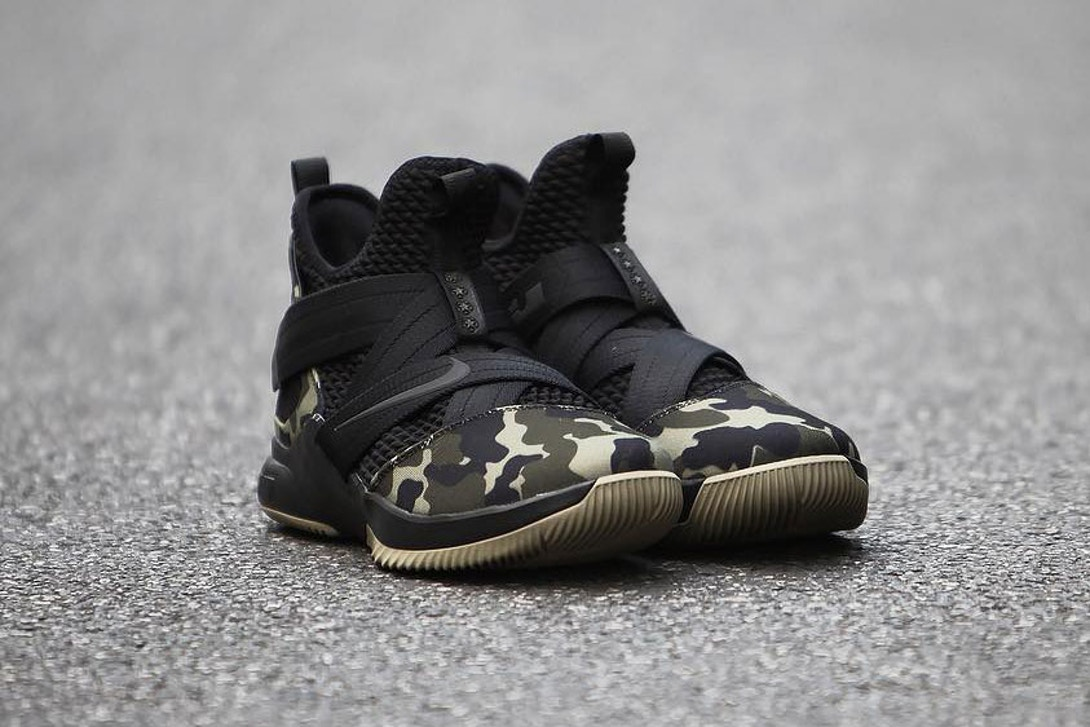 """af29a4fb2184 The Nike Lebron Soldier 12 """"Strive for Greatness"""" in military camo does not  have an official release date or pricing as of yet"""
