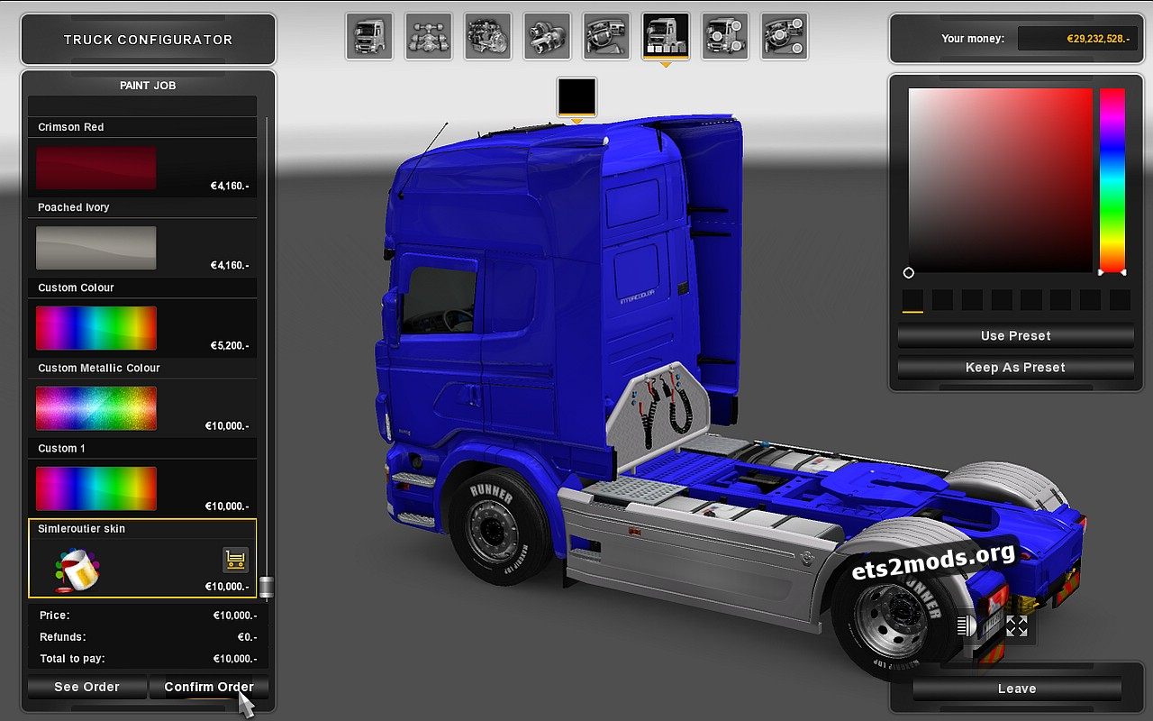 Elytrans Line Skin for Scania RJL