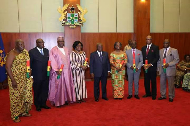 President Akufo-Addo swears in first batch of 8 Ambassadors