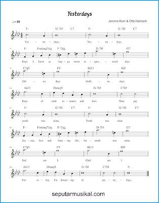 Yesterdays chords jazz standar