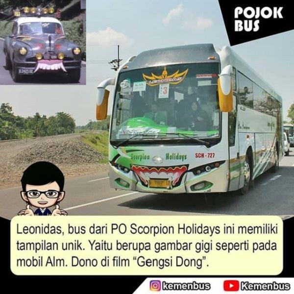 Gigi Leonidas dari PO Scorpion Holidays