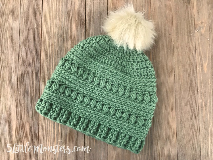 5 Little Monsters Bead Stitch Crochet Hat