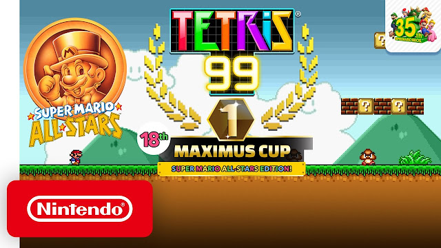 Tetris 99 (Switch): 18ª Maximus Cup terá Super Mario All-Stars como tema