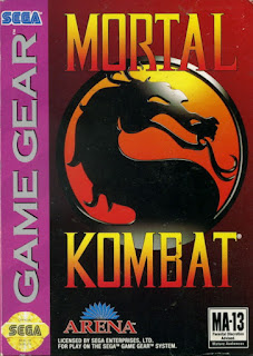 Carátula del cartucho de Mortal Kombat para la Sega Game Gear, Acclaim, 1993