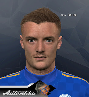 PES 2017 Faces Jamie Vardy by Autentiko