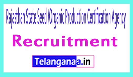 Rajasthan State Seed /Organic Production Certification Agency RSSOPCA Recruitment
