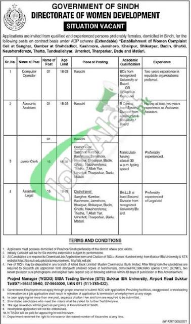 women-development-department-govt-of-sindh-jobs-2021-application-form