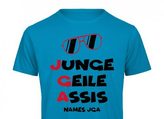 Junge, geile Assis T-Shirt für Herren