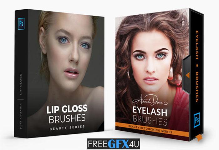 Lip Gloss And Eyelash Brushes