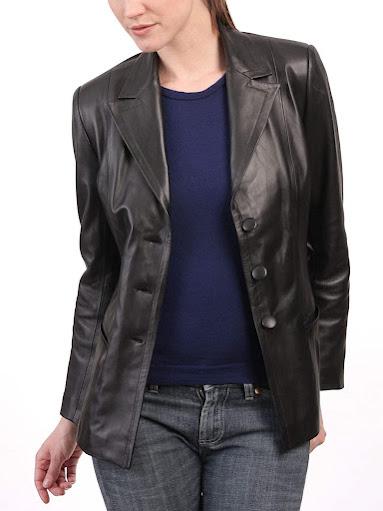 Women's Leather Blazers Jackets
