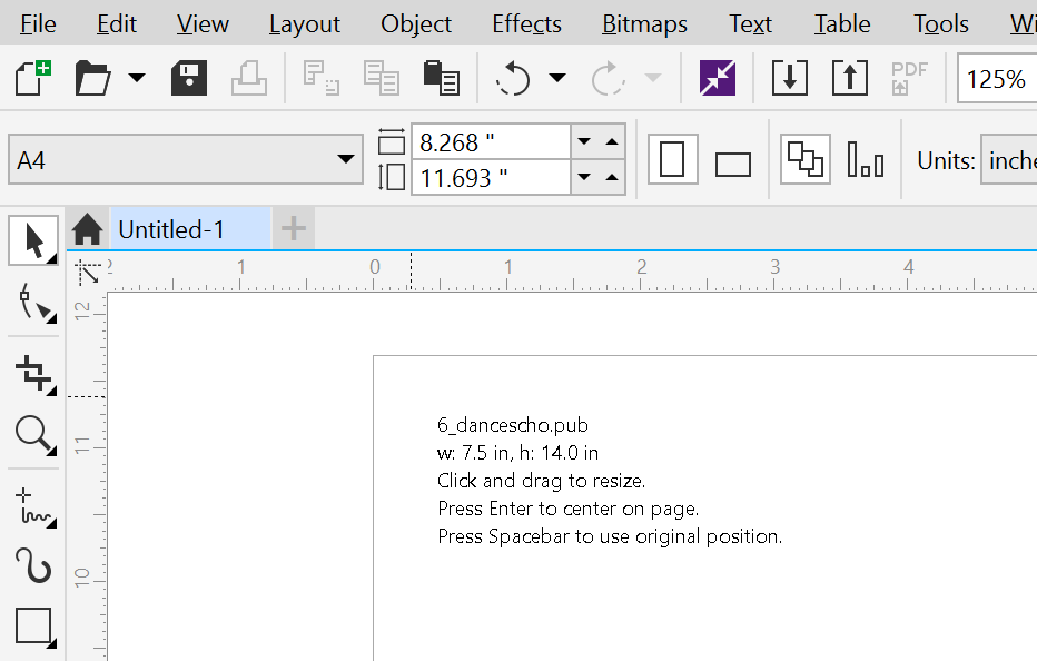 Microsoft Publisher files and CorelDraw X8 Part 1