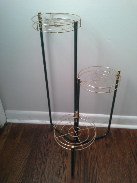 Mid century Metal plant stand