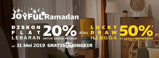 #Fabelio - #Promo Diskon Flat 20% di Ramadhan Perayaan Lebara Teraik (s.d 31 Mei 2019)