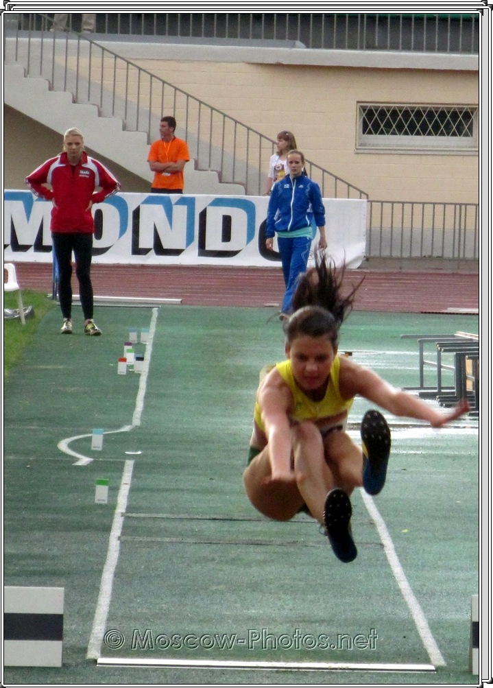 Long jump at Moscow Youth Trials 2010