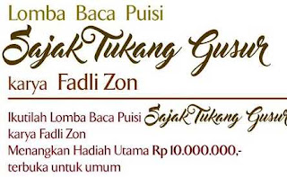 Lomba baca puisi di Indonesia Hadiah 10 Juta