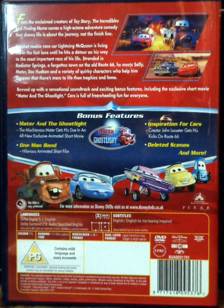 Movies On Dvd And Blu Ray Cars 2006