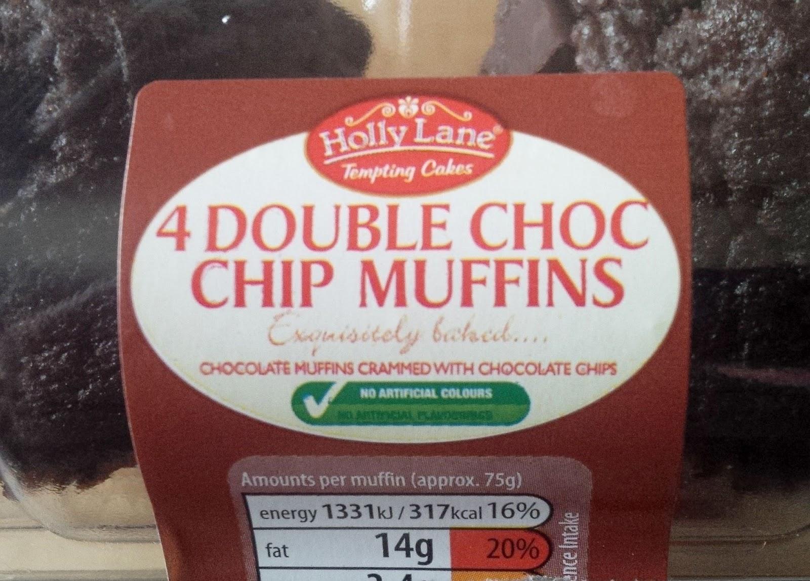 Aldi Tasted: Aldi Holly Lane Double Choc Chip Muffins