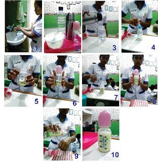 proses dan tahapan perawat suster pengasuh anak bayi balita baby sitter orang tua dalam membuat susu formula yang baik dan benar serta di ajarkan di terapkan di lpk cinta keluarga