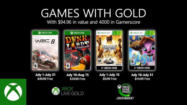 Tα Games with Gold για τον Ιούλιο του 2020