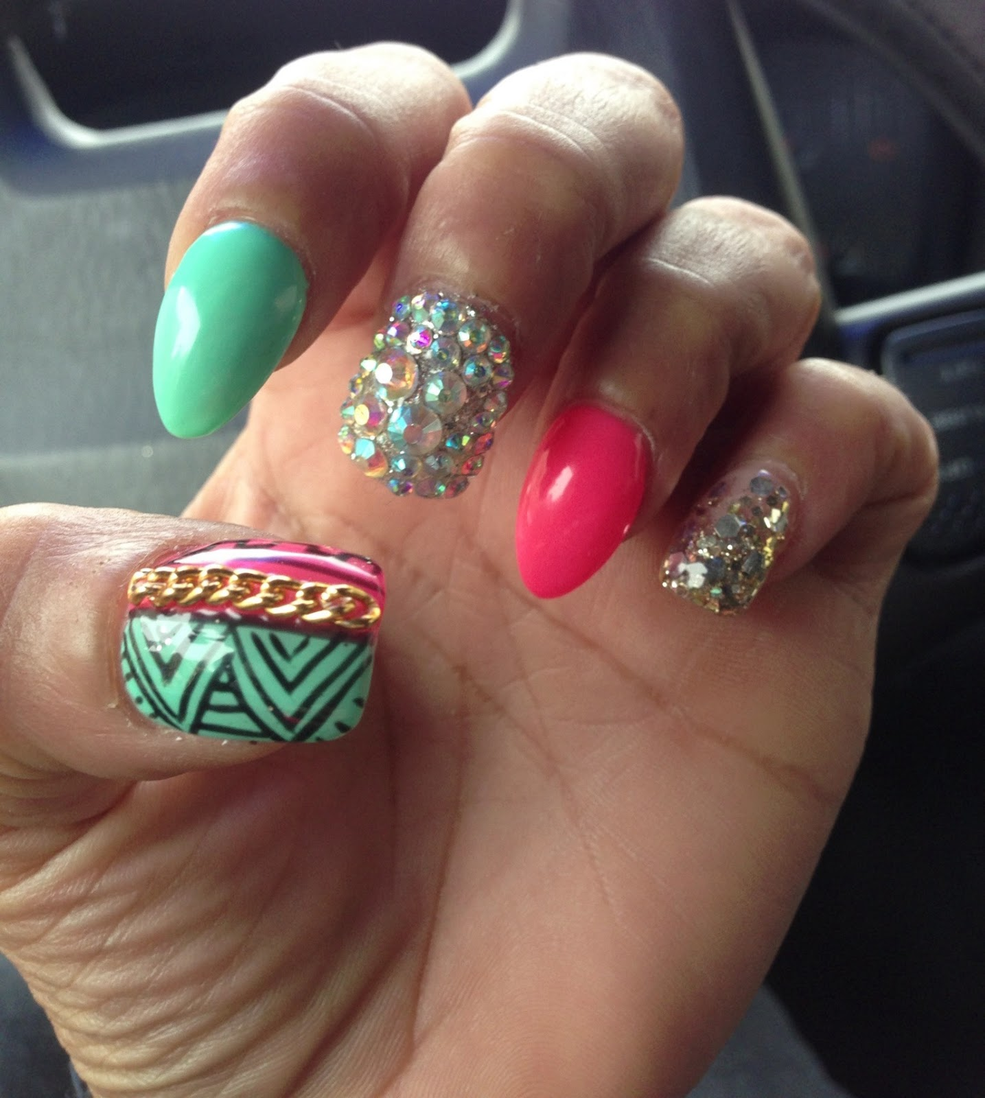 Amber Rose Nails | Steal Her Style |Stiletto Nails Amber Rose