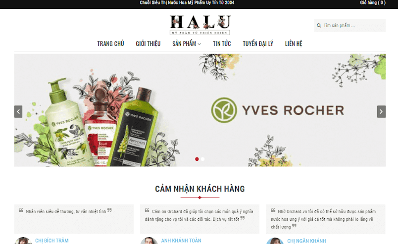 Template blogspot bán mỹ phẩm thiên nhiên