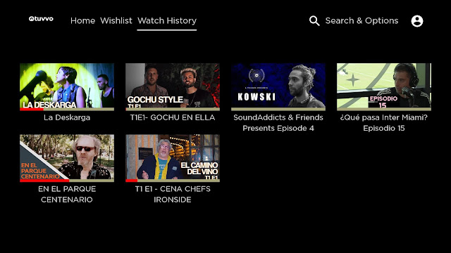TUVVO   Canal Roku   Muestra del Canal