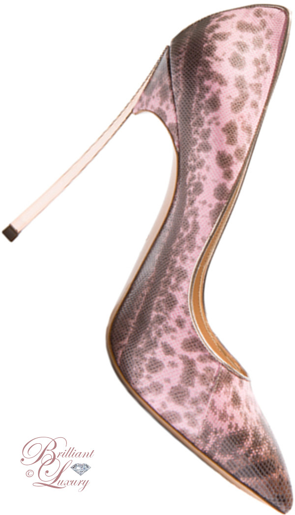 Brilliant Luxury ♦ Casadei Blade snakeskin pumps