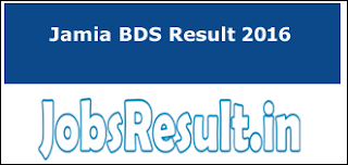Jamia BDS Result 2016