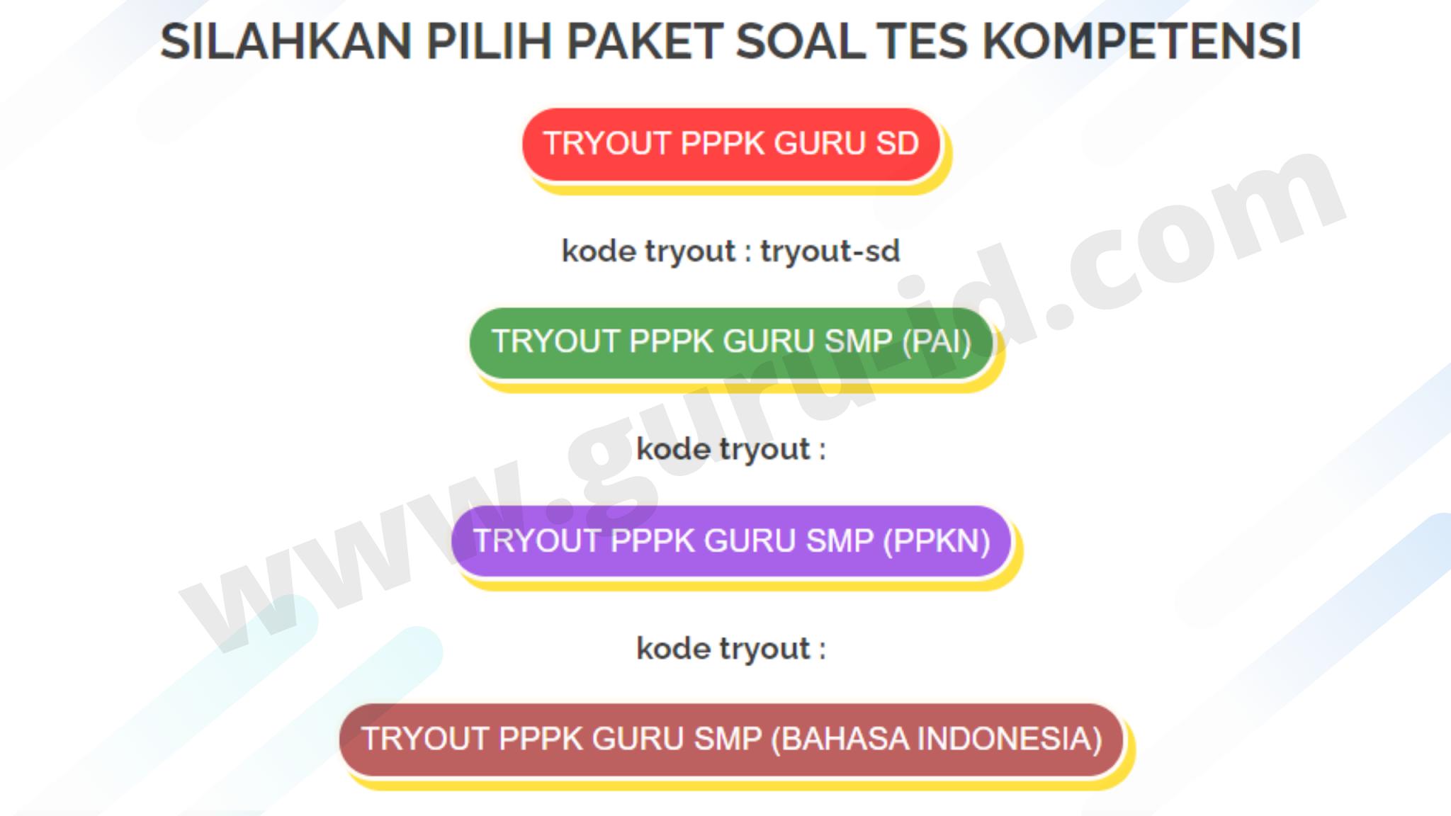 gambar Soal tryout online P3K Gratis