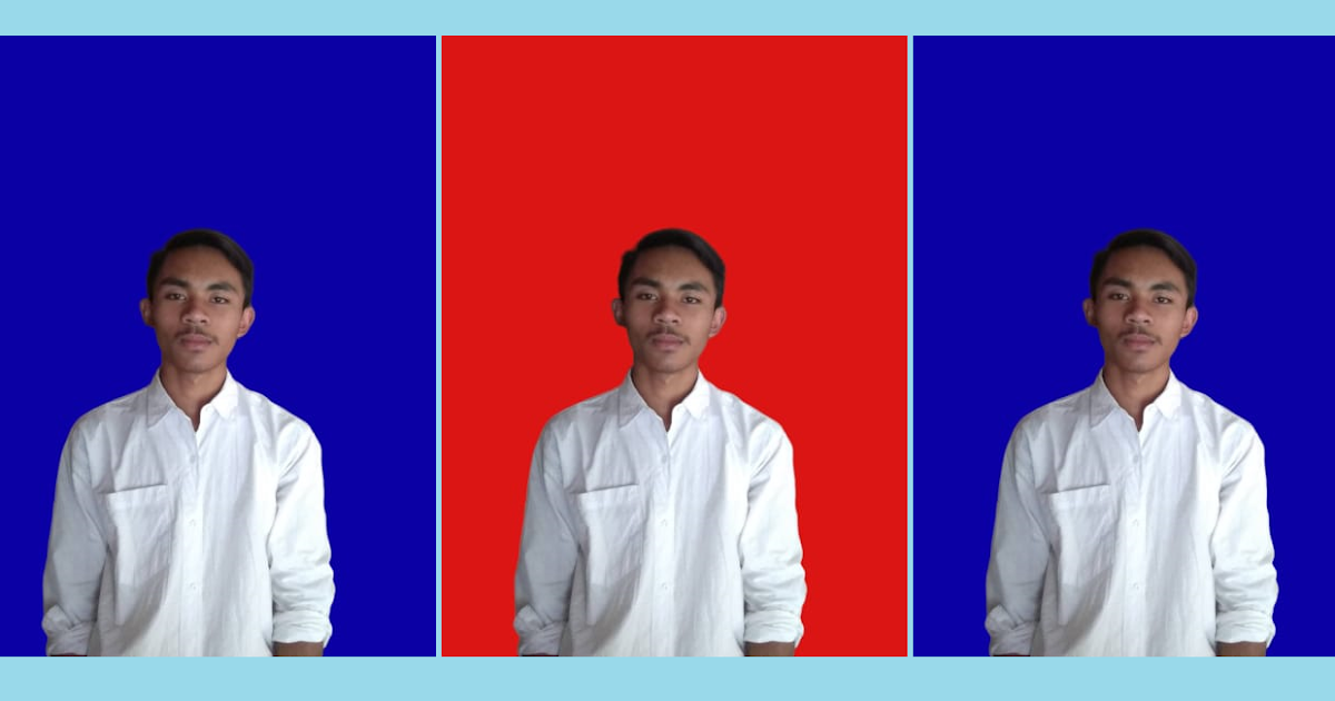 Kode Warna Background Pas Foto Biru Dan Merah