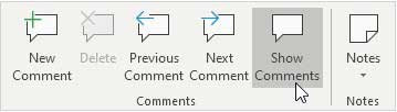 Tab View Comments